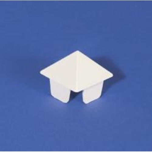 1 1 2 Inch X 1 1 2 Inch Sharp Picket Cap White 1 Case