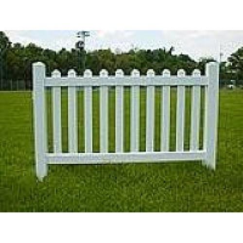 Vinyl Event Fence Picket Top
