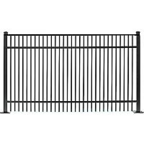 Jerith Residential 402 Panel 48 Inch High X 6 Ft Long Black