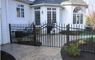 steel fence in front of home
